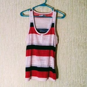 Maurices Red, White and Blue Tank Top